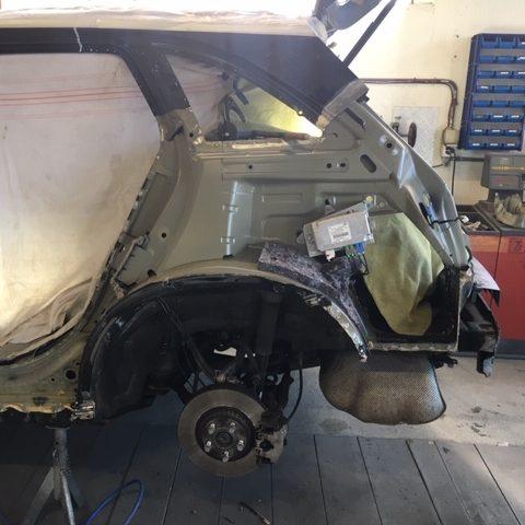 Carrosserie-schaden Auto Heck